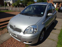 Lovely Toyota Yaris 2004 with long MOT, Sunroof and 5 doors