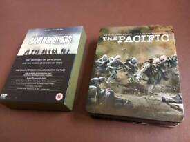 Band of brothers box set and Pacific steel book.