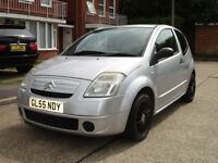 CITROEN C2 ONLY 1.1 ENGINE. LOW MILES. SERVICED WITH NEW CAMBELT/WATER PUMP. 12 MONTHS MOT