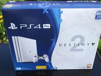 Glacier White Sony PS4 Pro Console ***SEALED*** Destiny 2 + Expansion Pass + DLC *1yr Warranty*