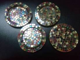 Mosaic tiled coasters