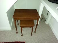 beautiful tables. nest of two wooden coffee tables. collection only