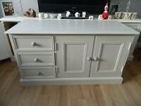 Shabby Chic Solid Pine Painted TV Cabinet