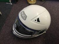 New bike helmet white