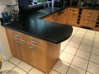 Complete Beech Wood Kitchen. See separate ad for appliances