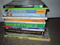 Collection of 14 Sport Books History Guide BBC Greats Moments WWF Top 10 Annual Lot