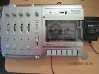 Tascam 4 track tape recorder studio for sale.