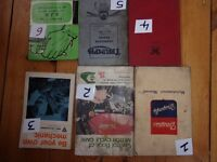 Classic motorcycle manuals/books