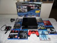 Playstation 4 500GB with Controller all Cables & 9 Decent Games