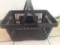 Black shopping baskets