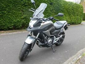 HONDA NC 700 X AUTOMATIC WITH COMBINED ABS MILEAGE 1899, SILVER, ONE OWNER IMMACULATE, CENTRE STAND.