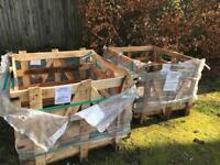 Square shaped wooden pallets