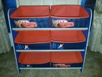 Disney Lightening McQueen Storage Rack / Boxes