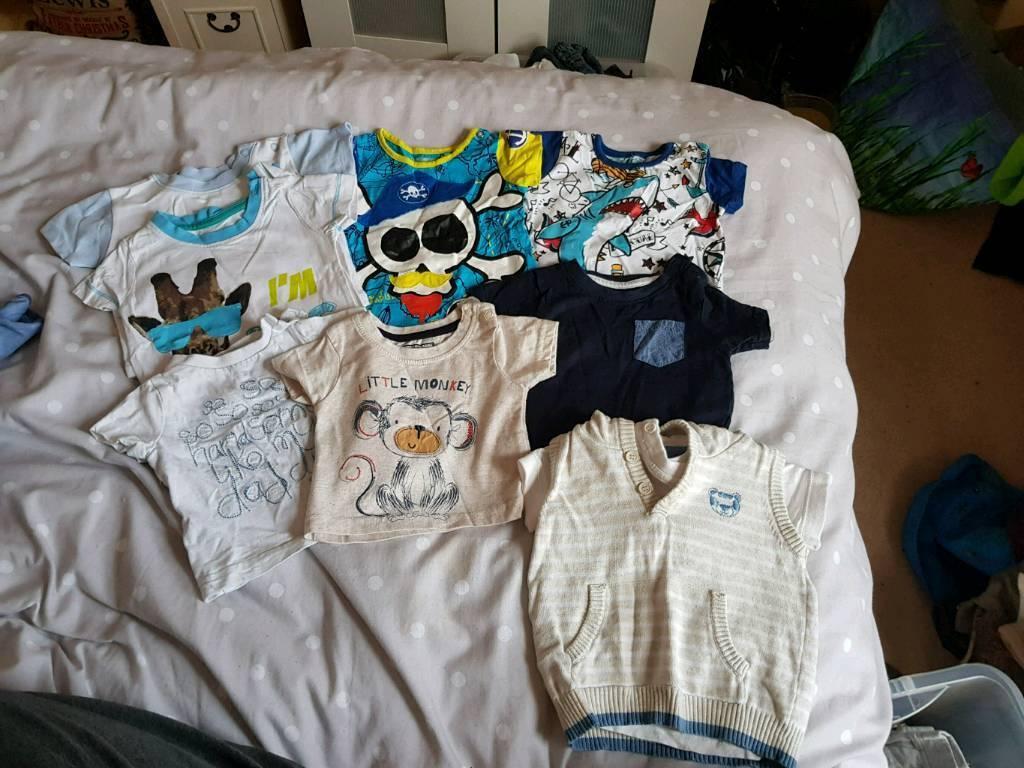 Large baby boy 0-3 bundle