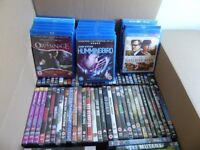 JOB LOT 79 DVDS CERTIFICATE 12-18 SOME BLU-RAY MALE ACTION MOVIES