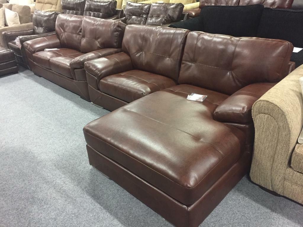 Endurance Leather Scs Sofas Brand New In East Kilbride