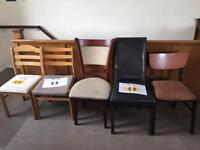 Assortment of single chairs