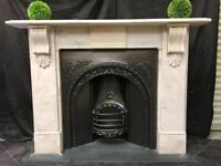 Period Victorian Marble Fireplace Surround
