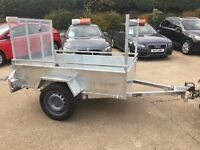 6 x 4 NEW CAR TRAILER FULLY GALVANISED LONG TAIL DOOR