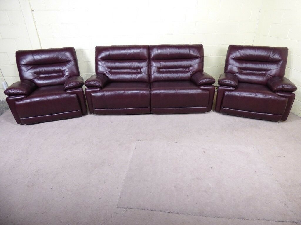 Williams 3 Seater Sofa Amp 2 Armchairs Manual Recliners In