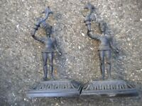 A PAIR OF BRONZE FIGURES 8X3X2 INCHES