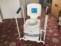 Thetford Porta Potti portable toilet and frame
