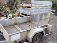 hazlewood galvanized plant trailer 6ft x 4ft 6inch single axle