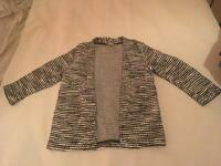 Black & White Stripe H&M cardigan S 10