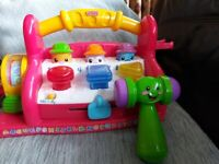 Fisher price laugh and learn musical bench with hammer