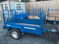 NEWLY BUILT 7X4 HIGH MESH SIDE CAR TRAILER (lawn mower tractor quad garden car removal) for sale  Banbridge, County Down