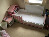 Girls doll house toddler bed
