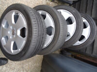 4x17 GENUINE Alloys Wheels and TYRES Will Fit VW T- 4 VW Caddy Audi TT / A3 ETC 5x 112
