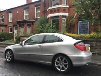 2001 Mercedes C class Coupe C200 Only 89,000 12 Months Mot Full Pan Roof