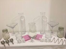 Wedding or celebration sweet table jars