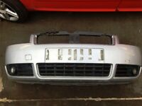 2002-03 AUDI A4 Cabriolet 2.4 petrol automatic silver convertible front bumper LY7W