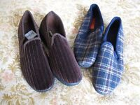 Two Pair Men's Slippers, New,Size 8 Euro 42