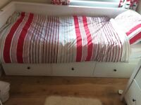 Ikea bed single / turns in to double (2 mattresses)