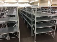 Large Quantity, High Quality, Powder Coated Warehouse & Retail Shelving, Virtually Unmarked, As New