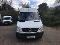 MERCEDES SPRINTER LWB FRIDGE VAN.2013.EURO 5.HEAVY DUTY REAR LEAF SPRING