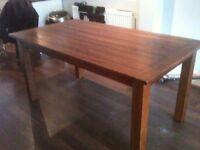 Solid dark wood dining table (John Lewis)