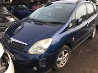 TOYOTA COROLLA VERSO T3 VVTI 2002- FOR PARTS ONLY
