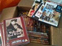 DVD Job lot of John Wayne Films Westerns War Action all in good condition