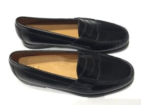 Cole Haan Black Leather Penny Loafers US Size 10D New