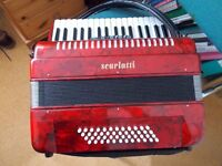 Scarlatti 48 Base Accordion. Excellent condition. Hardly used. Excellent working order.