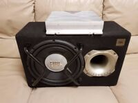 CAR ACTIVE SUBWOOFER JBL 1200 WATT 12 INCH BASS BOX WITH BUILD IN KENWOOD AMPLIFIER SUB WOOFER AMP