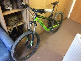 Specialised pitch full suspension mountain bike