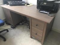 Ikea Hemnes computer table desk wood