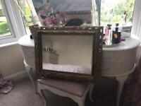 Shabby chic gold gilt mirror