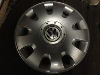 Single Genuine VW 15'' Wheel Trim to fit Golf Bora Beetle Passat Polo Jetta Caddy Lupo etc.