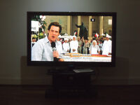 50 inch Samsung plasma TV with stand, Freeview HD tuner, and DVD player